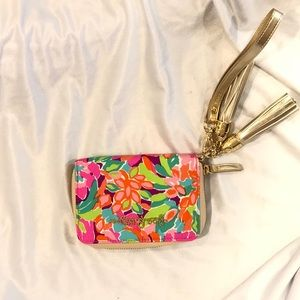LILLY PULITZER PINK FLORAL WRISTLET